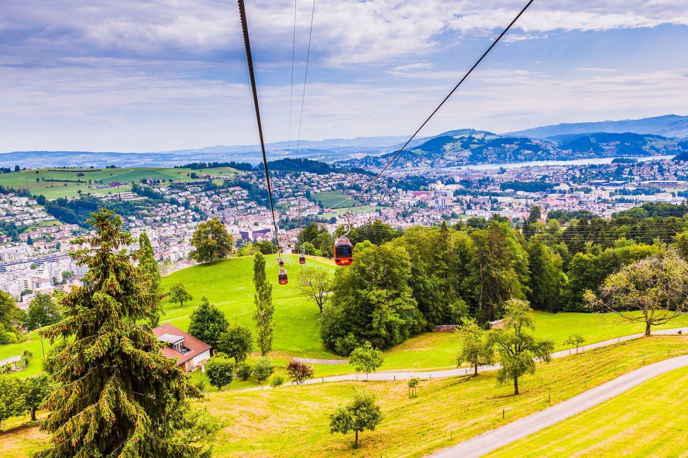 瑞士卢塞恩(Lucerne),坐缆车看风景_图1-23