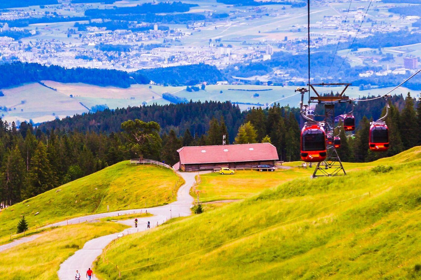 瑞士卢塞恩(Lucerne),坐缆车看风景_图1-24