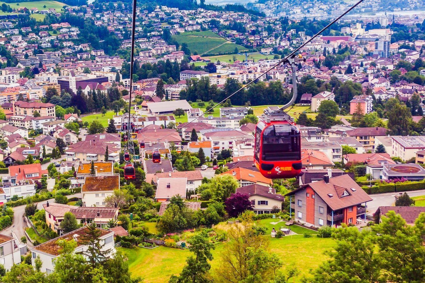 瑞士卢塞恩(Lucerne),坐缆车看风景_图1-20