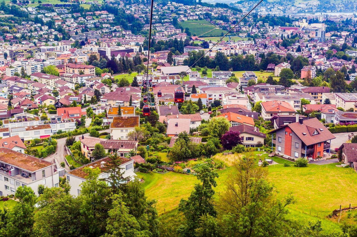 瑞士卢塞恩(Lucerne),坐缆车看风景_图1-19