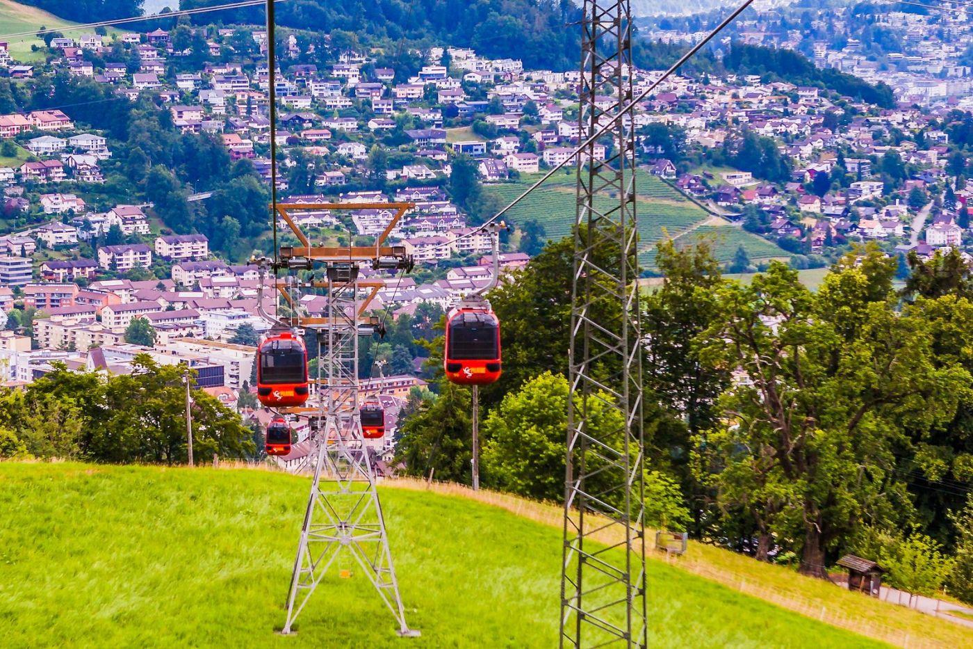 瑞士卢塞恩(Lucerne),坐缆车看风景_图1-13