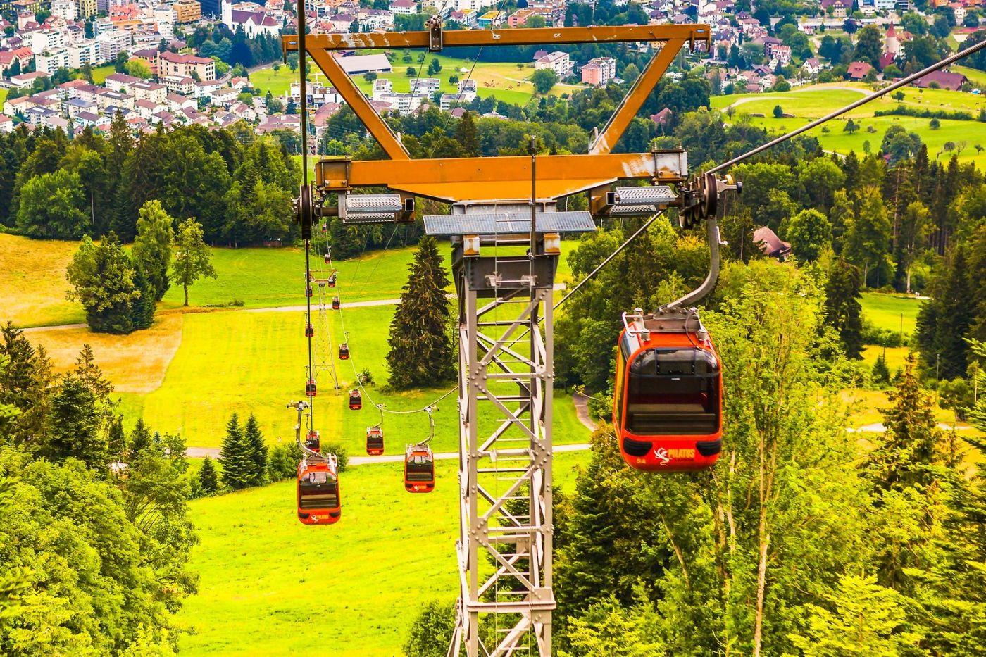 瑞士卢塞恩(Lucerne),坐缆车看风景_图1-15