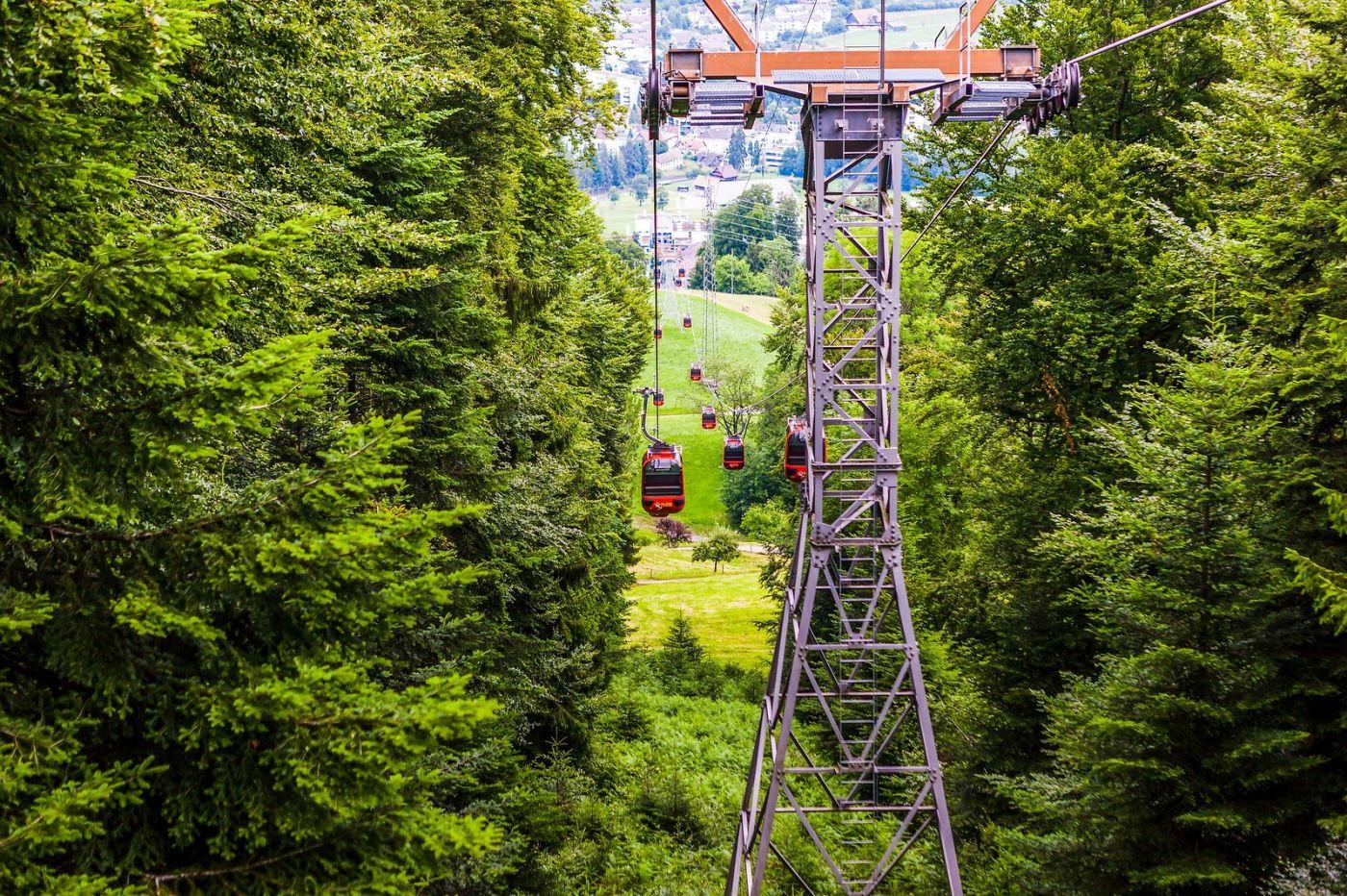 瑞士卢塞恩(Lucerne),坐缆车看风景_图1-16