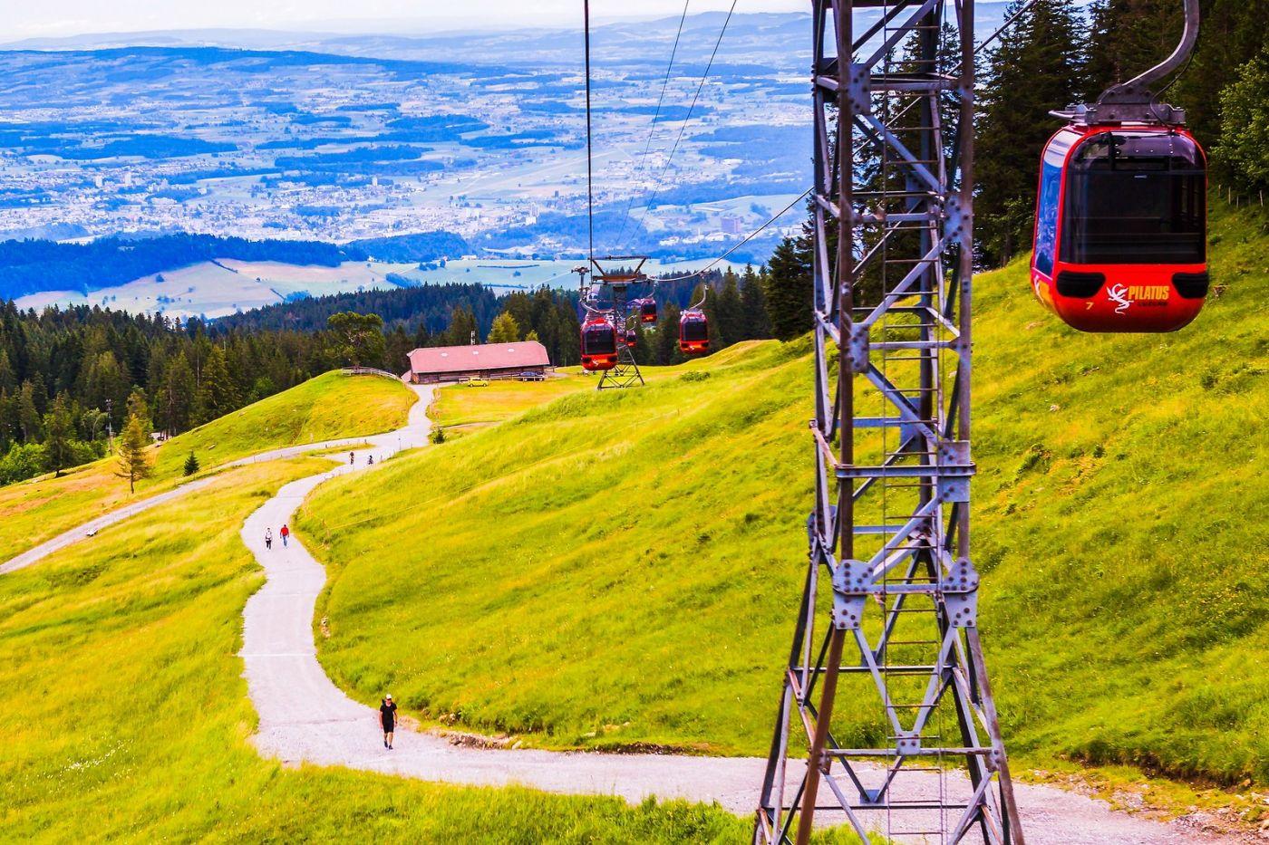 瑞士卢塞恩(Lucerne),坐缆车看风景_图1-3