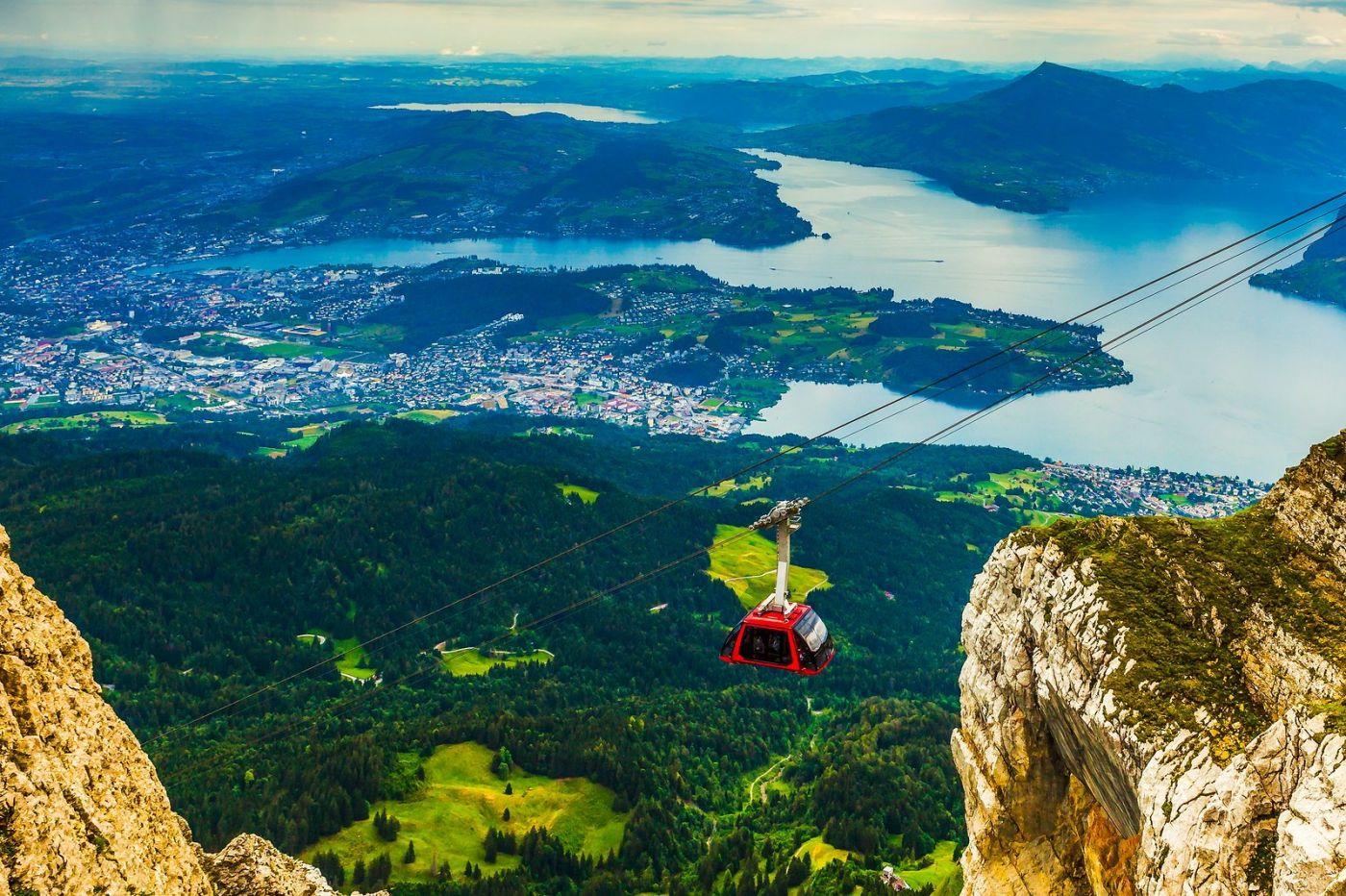 瑞士卢塞恩(Lucerne),坐缆车看风景_图1-1
