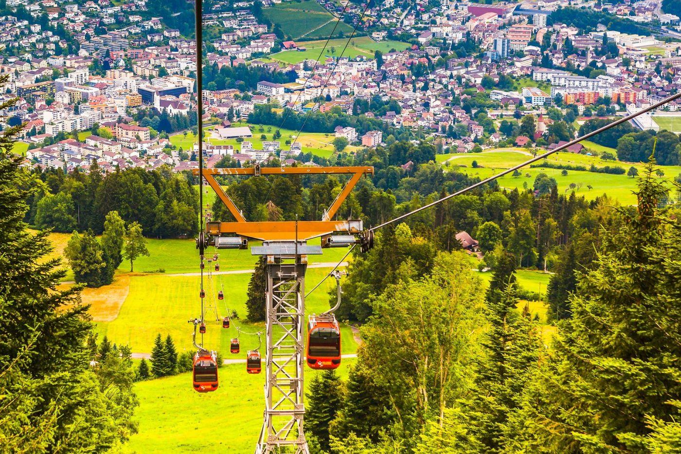 瑞士卢塞恩(Lucerne),坐缆车看风景_图1-2