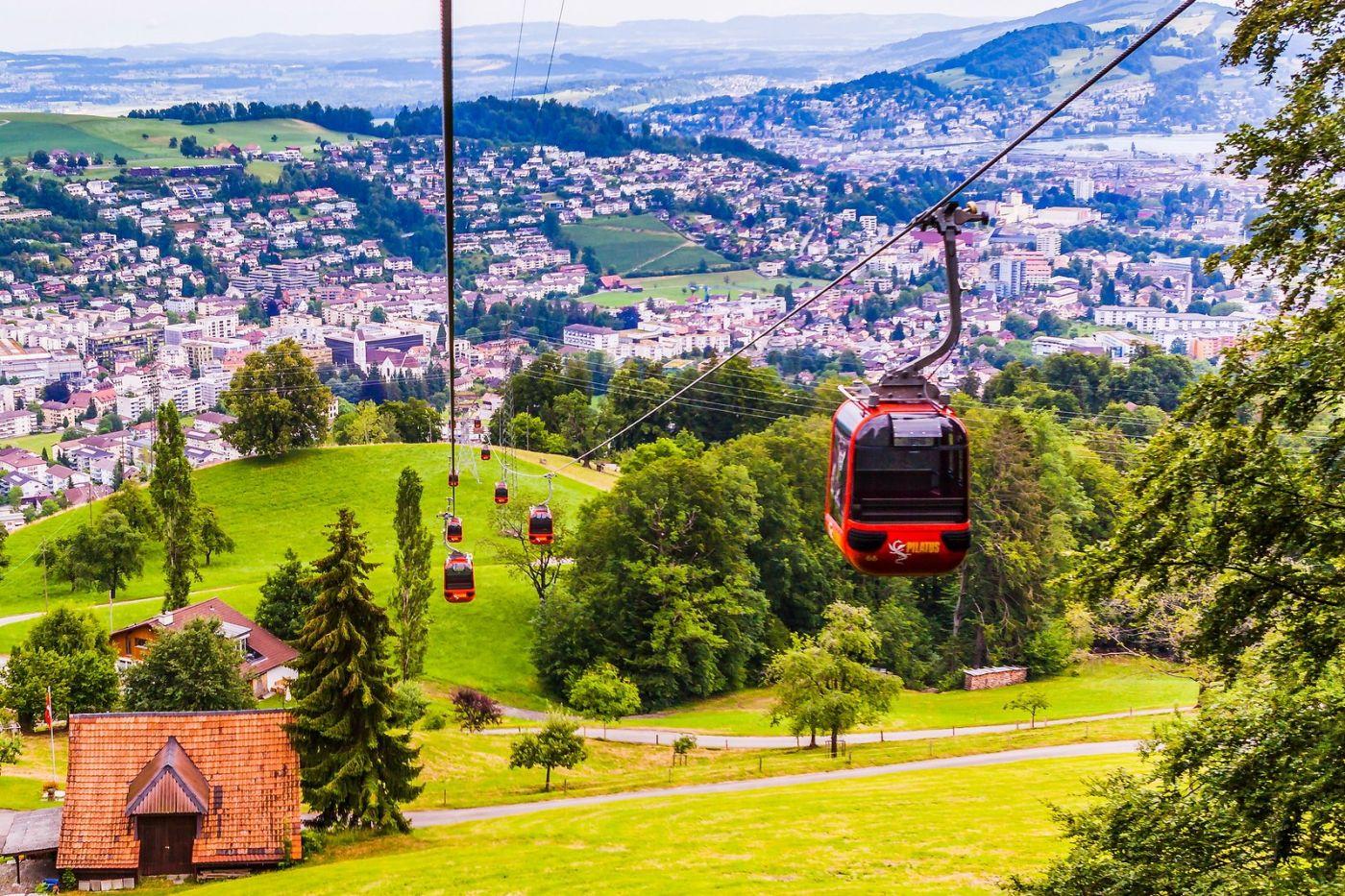 瑞士卢塞恩(Lucerne),坐缆车看风景_图1-6