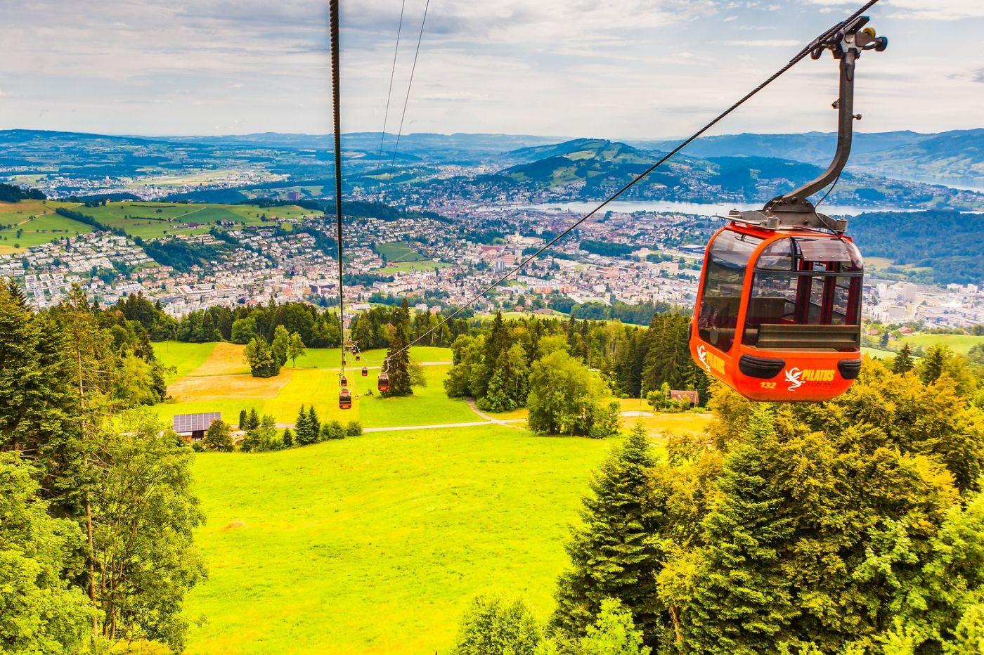 瑞士卢塞恩(Lucerne),坐缆车看风景_图1-8