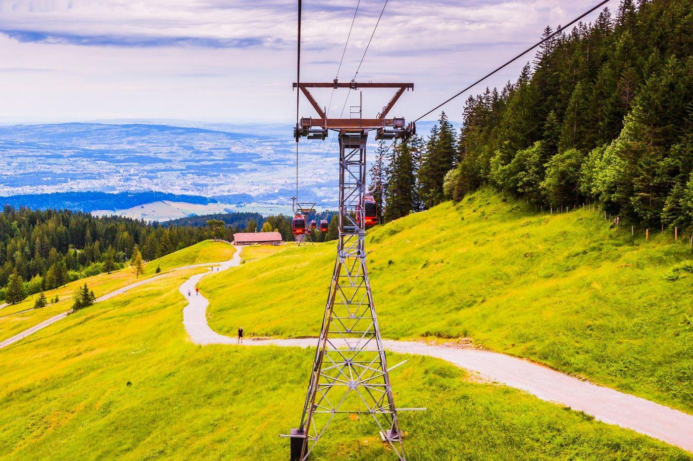 瑞士卢塞恩(Lucerne),坐缆车看风景_图1-12