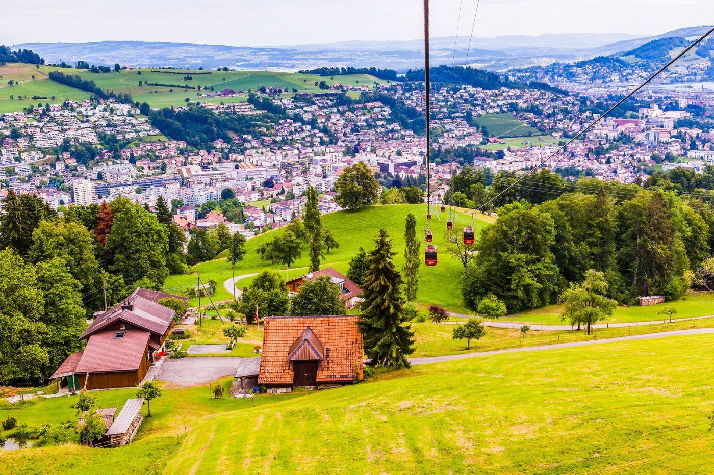 瑞士卢塞恩(Lucerne),坐缆车看风景_图1-11