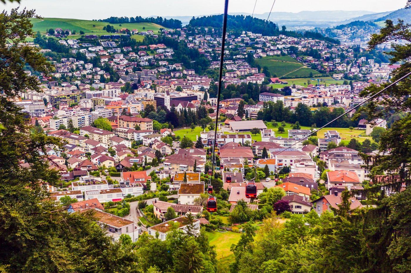 瑞士卢塞恩(Lucerne),坐缆车看风景_图1-10