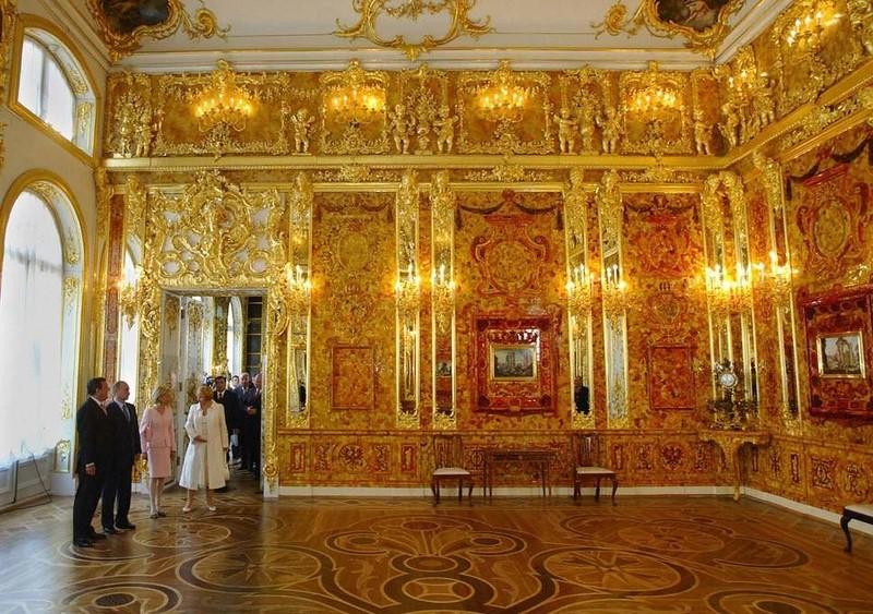 俄罗斯的珍宝(一):琥珀厅(Amber Room)_图1-2