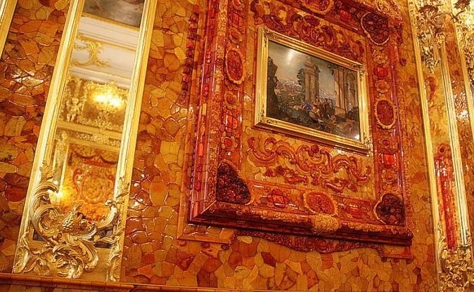 俄罗斯的珍宝(一):琥珀厅(Amber Room)_图1-4
