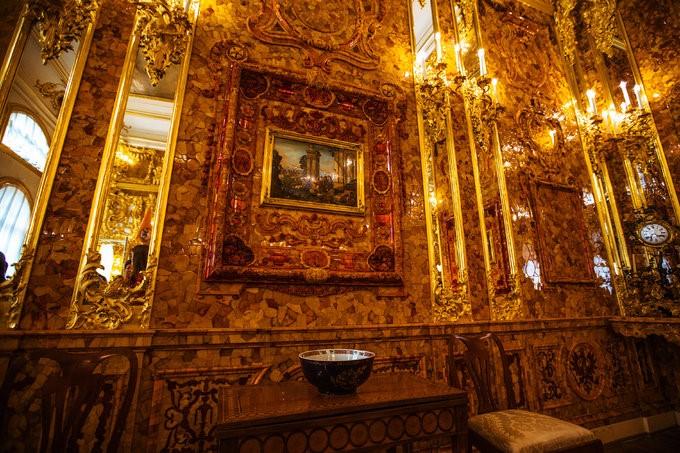 俄罗斯的珍宝(一):琥珀厅(Amber Room)_图1-5