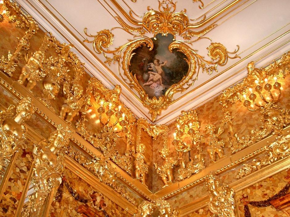 俄罗斯的珍宝(一):琥珀厅(Amber Room)_图1-6