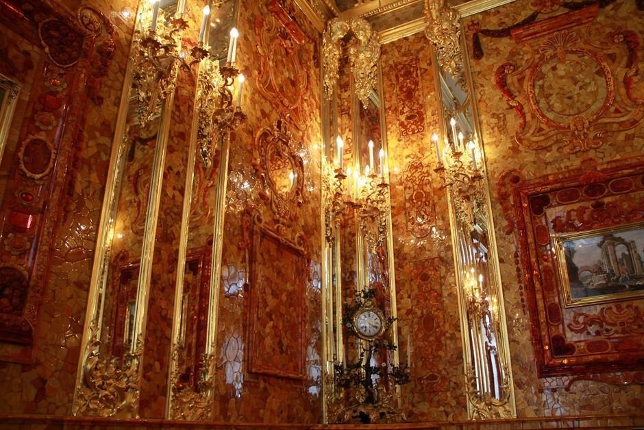 俄罗斯的珍宝(一):琥珀厅(Amber Room)_图1-7