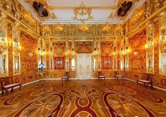 俄罗斯的珍宝(一):琥珀厅(Amber Room)_图1-12