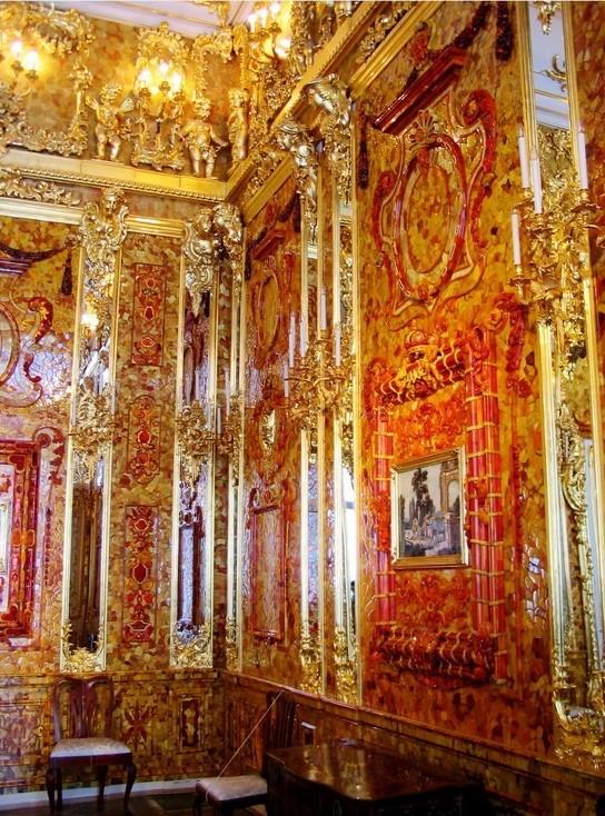 俄罗斯的珍宝(一):琥珀厅(Amber Room)_图1-14
