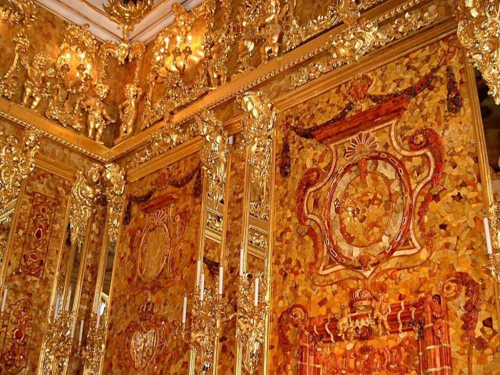 俄罗斯的珍宝(一):琥珀厅(Amber Room)_图1-16