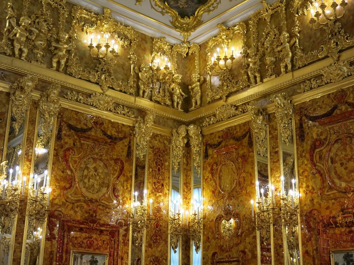俄罗斯的珍宝(一):琥珀厅(Amber Room)_图1-13