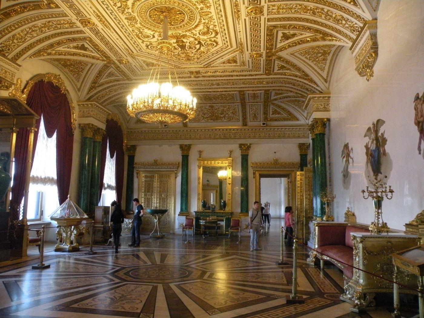 俄罗斯的珍宝(四):冬宫的孔雀石厅(Malachite Room)_图1-5