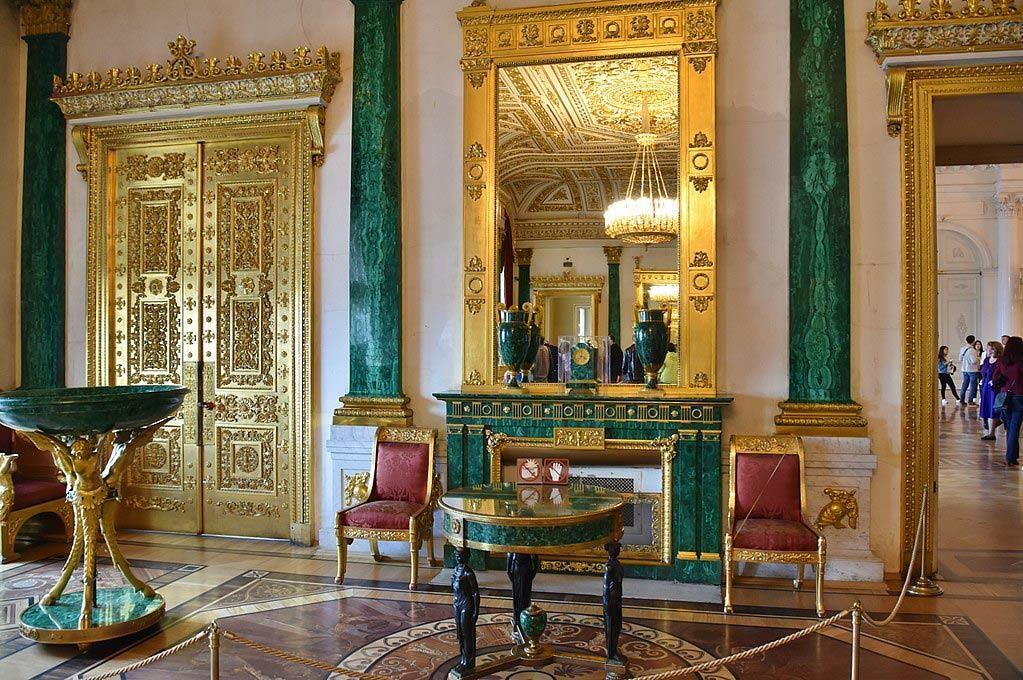 俄罗斯的珍宝(四):冬宫的孔雀石厅(Malachite Room)_图1-6