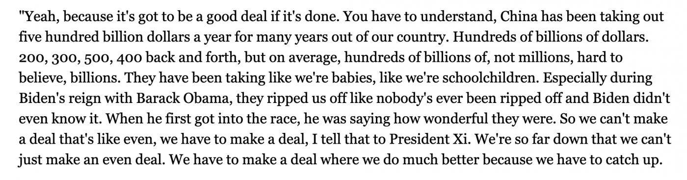 特朗普承认是他在拖延达成贸易协议_图1-1