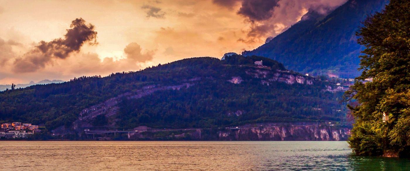 瑞士卢塞恩(Lucerne),湖边晚霞_图1-12