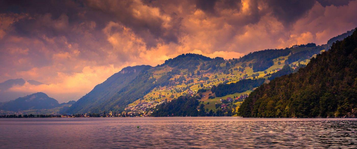 瑞士卢塞恩(Lucerne),湖边晚霞_图1-24