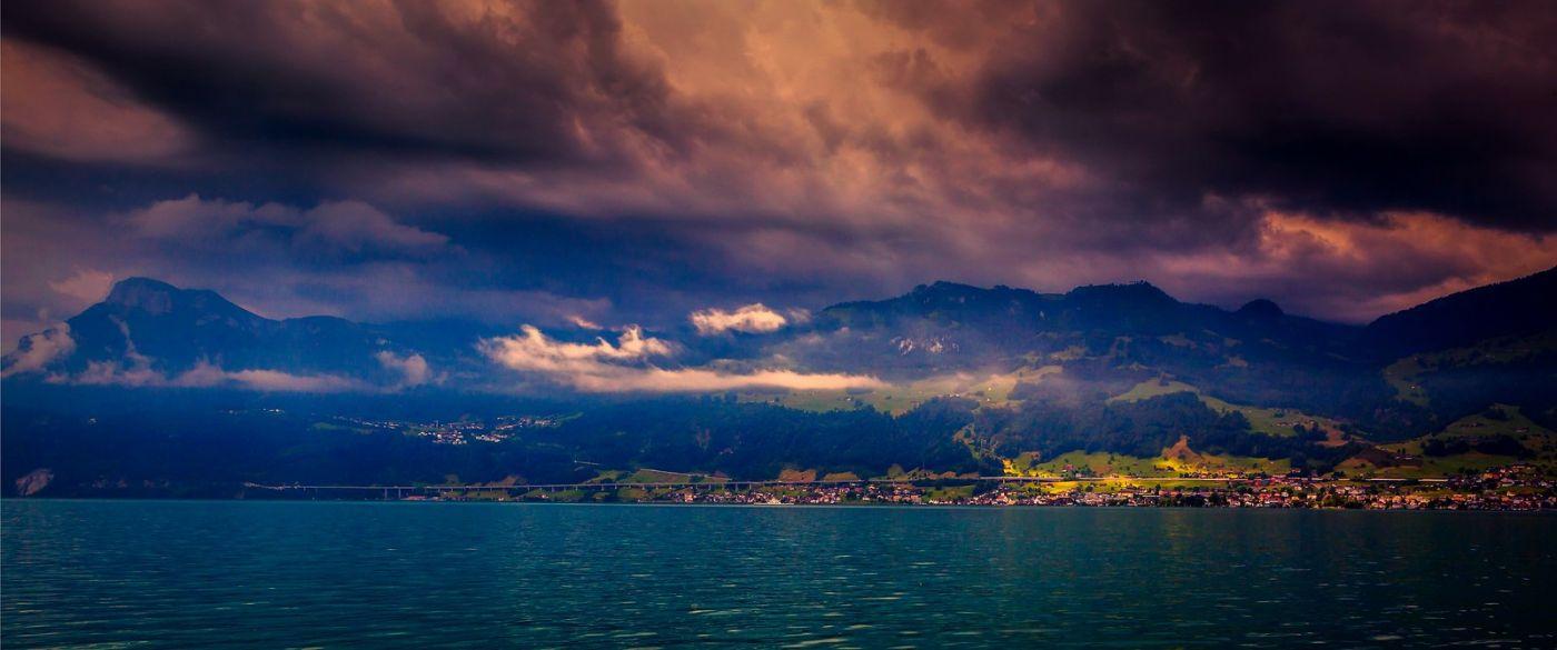 瑞士卢塞恩(Lucerne),湖边晚霞_图1-36
