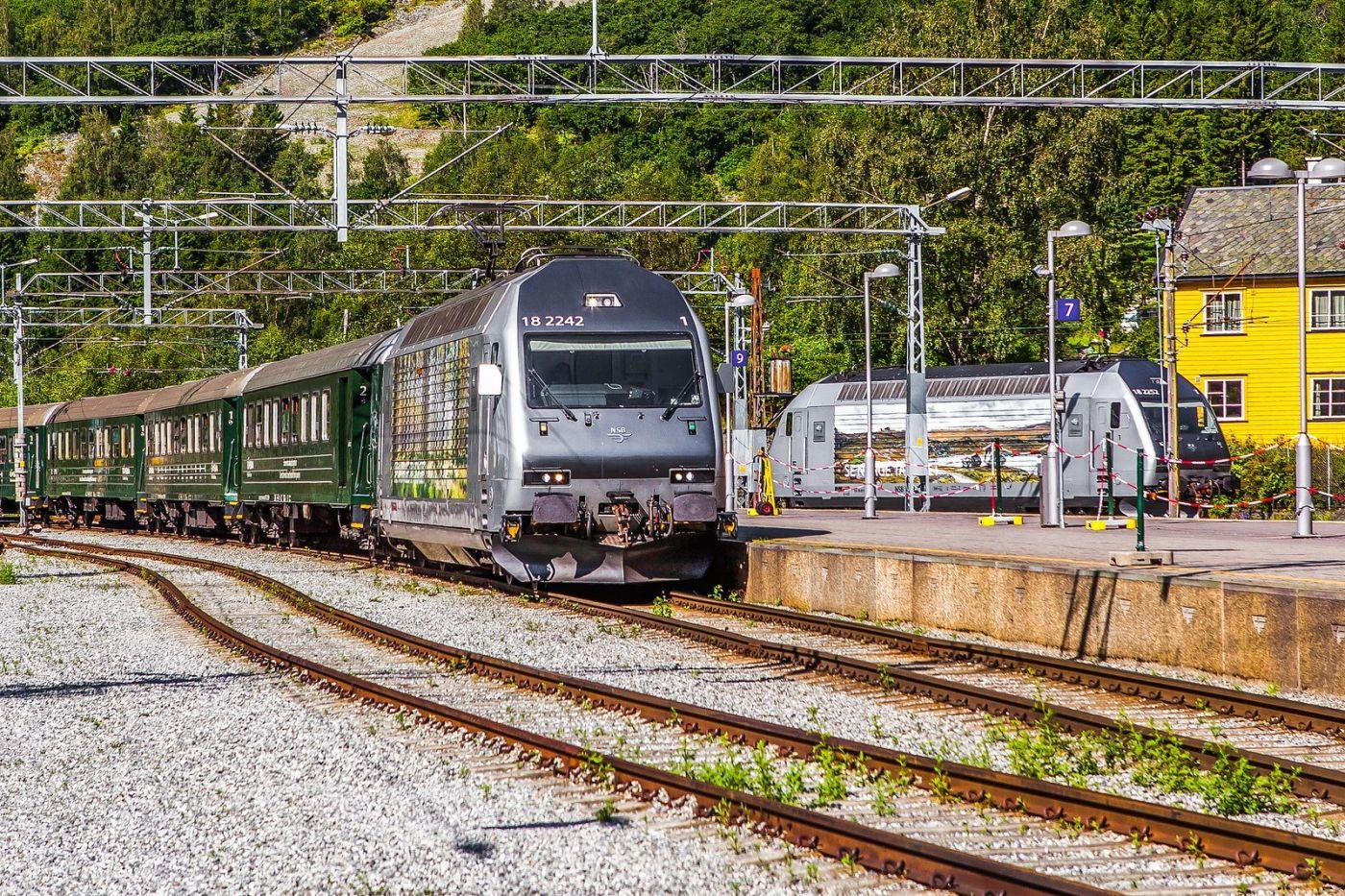 挪威弗拉姆铁路(Flam Railway),美丽的小站_图1-39