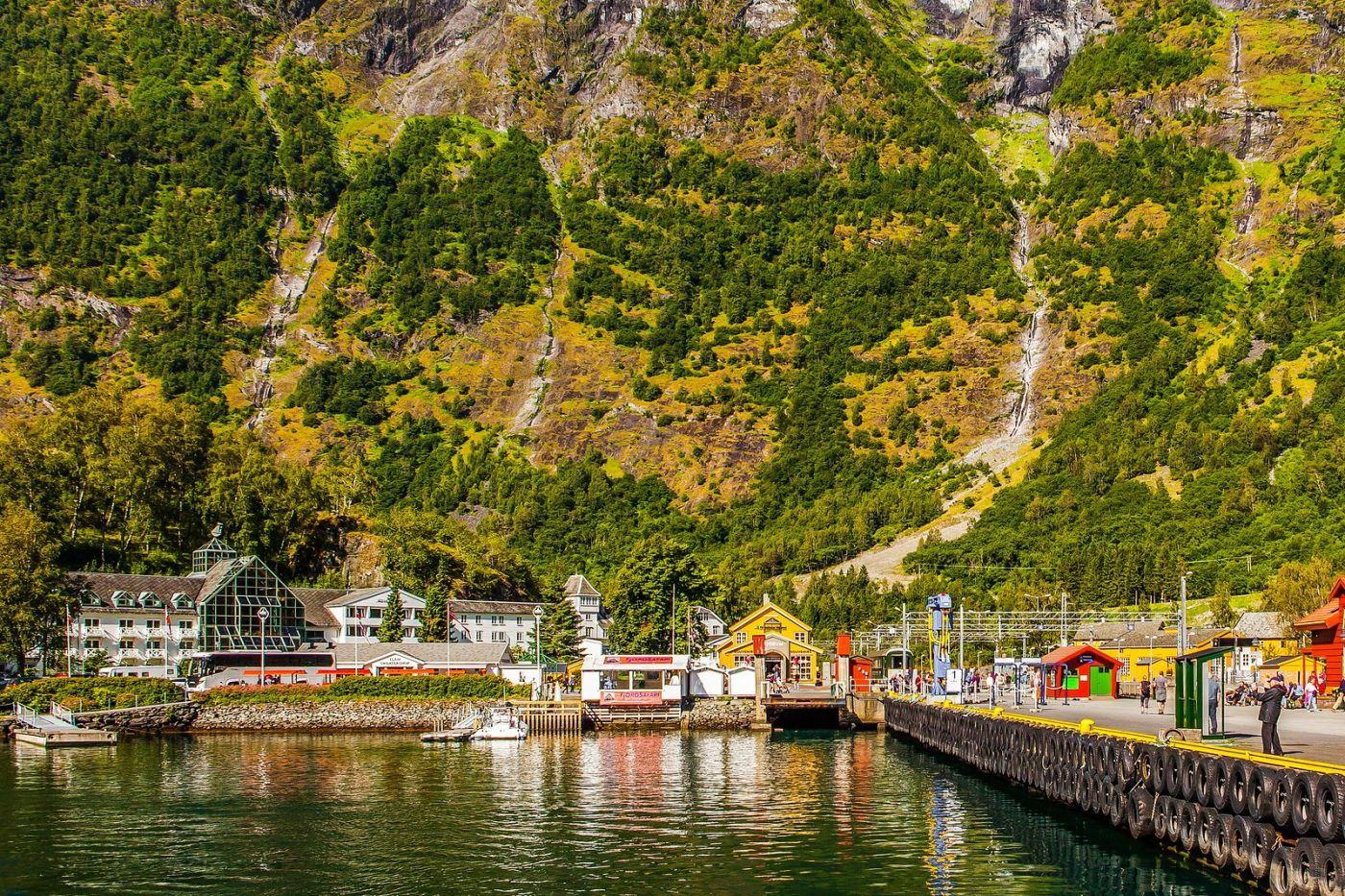 挪威弗拉姆铁路(Flam Railway),美丽的小站_图1-36