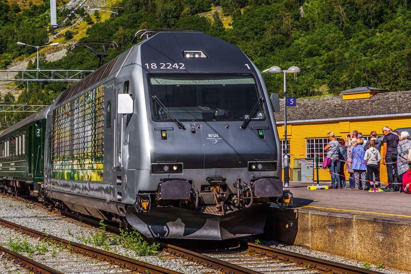 挪威弗拉姆铁路(Flam Railway),美丽的小站_图1-17