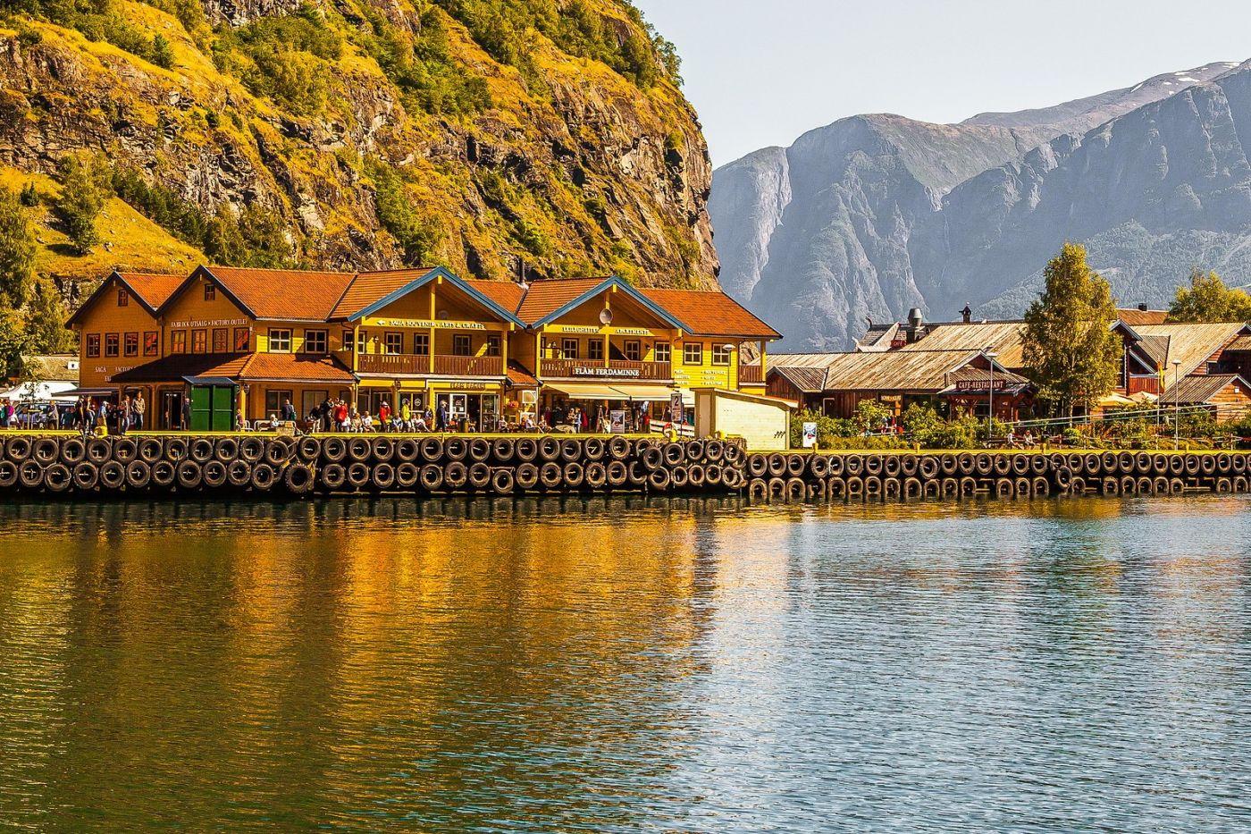 挪威弗拉姆铁路(Flam Railway),美丽的小站_图1-14