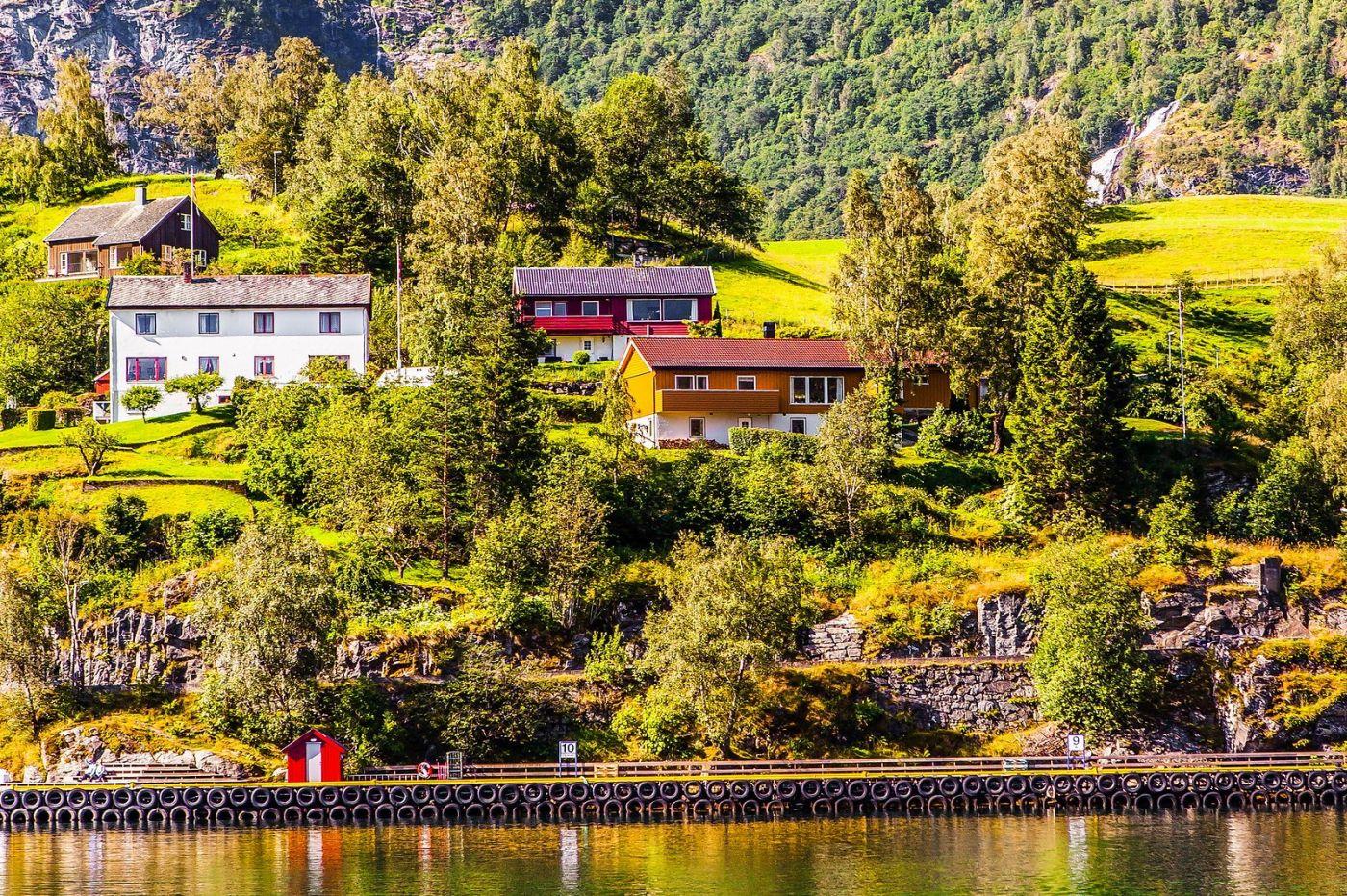 挪威弗拉姆铁路(Flam Railway),美丽的小站_图1-15