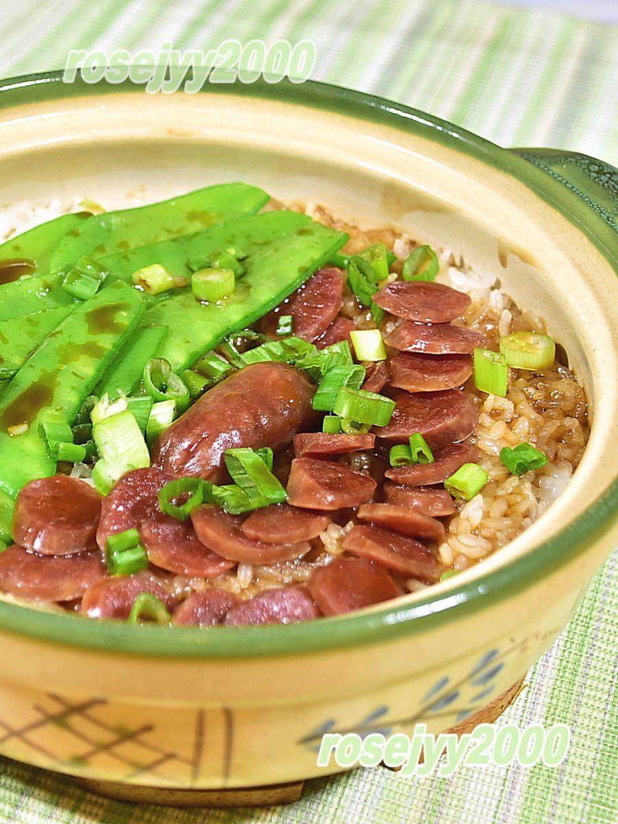 砂煲腊肠糯米饭_图1-3
