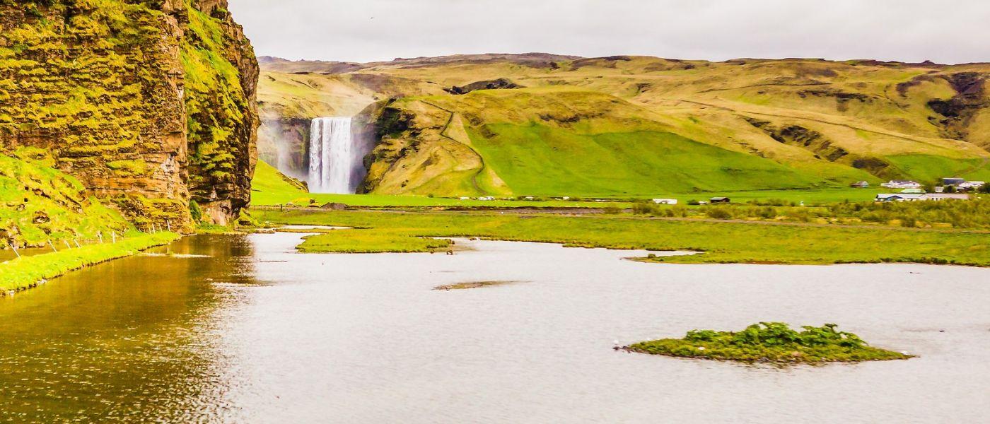 冰岛风采,山间的大小瀑布_图1-4