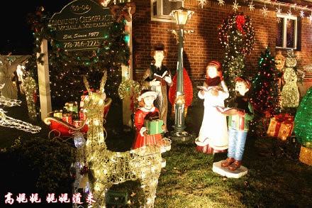 高娓娓:亮瞎眼!看美国人布置圣诞彩灯有多疯狂_图1-5