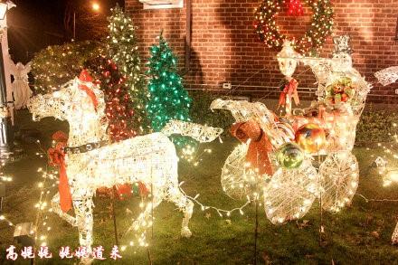 高娓娓:亮瞎眼!看美国人布置圣诞彩灯有多疯狂_图1-7