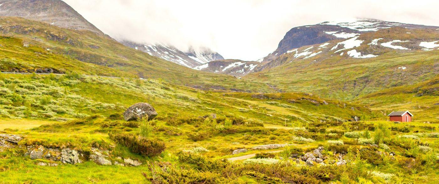 北欧风光,汇聚而下的高山瀑布_图1-4