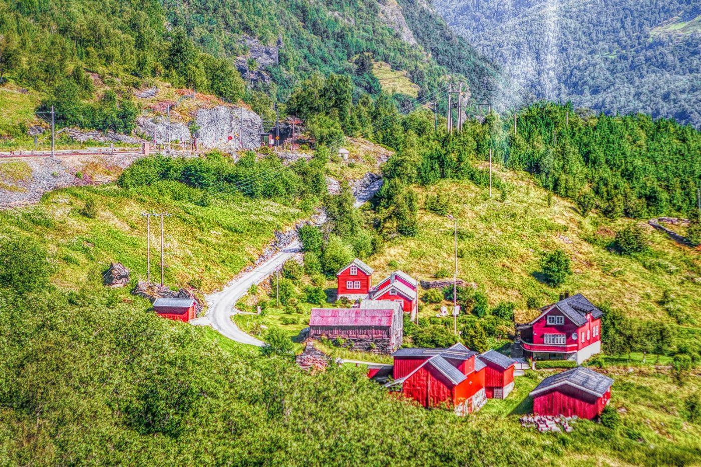 挪威弗拉姆铁路(Flam Railway),沿路的山水_图1-38