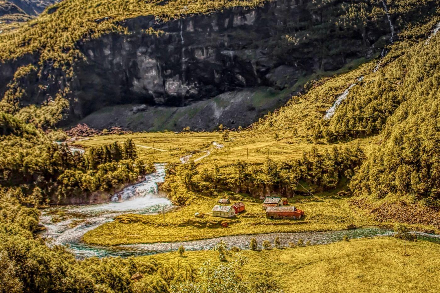 挪威弗拉姆铁路(Flam Railway),沿路的山水_图1-33