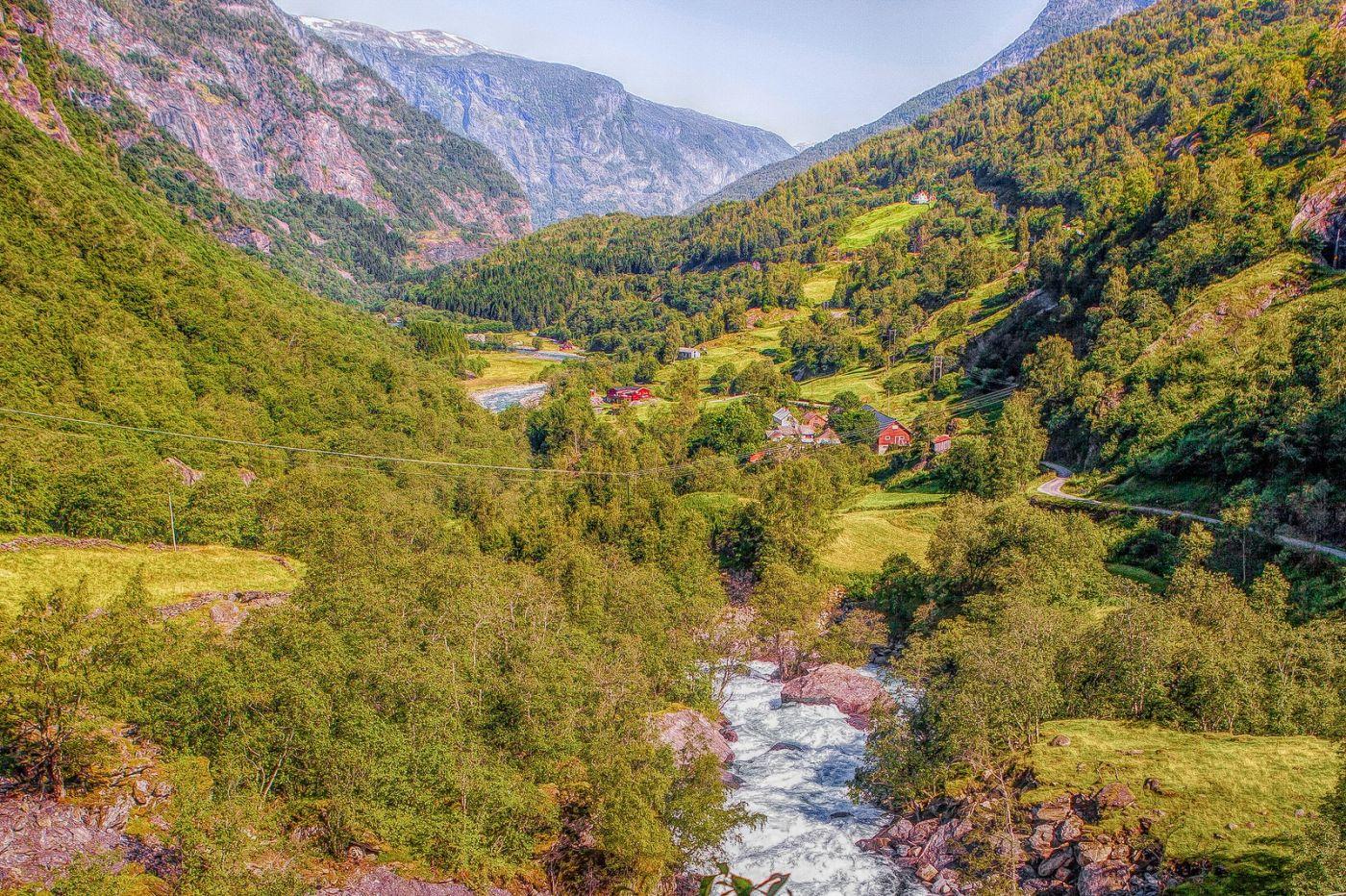 挪威弗拉姆铁路(Flam Railway),沿路的山水_图1-37