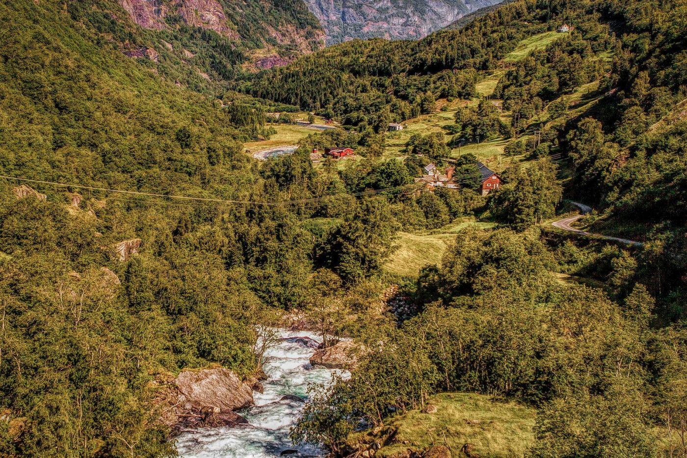 挪威弗拉姆铁路(Flam Railway),沿路的山水_图1-31