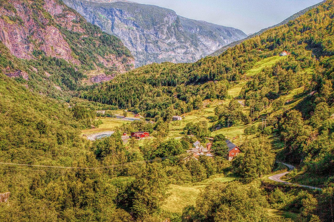 挪威弗拉姆铁路(Flam Railway),沿路的山水_图1-7