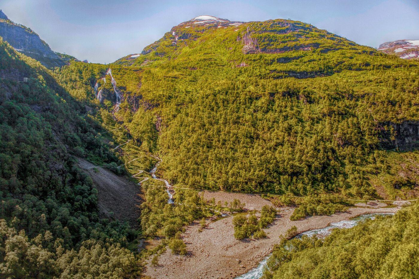 挪威弗拉姆铁路(Flam Railway),沿路的山水_图1-5