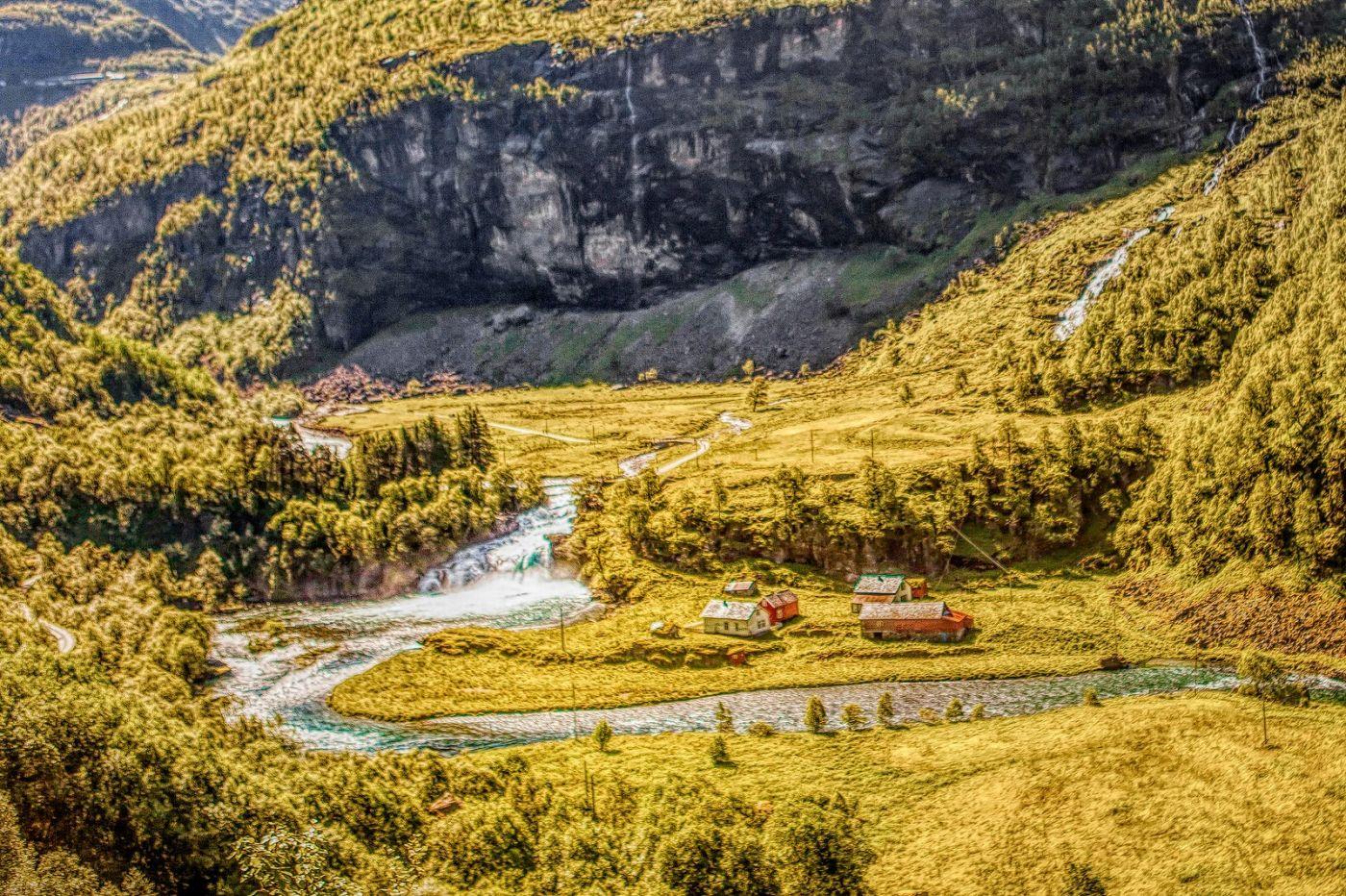 挪威弗拉姆铁路(Flam Railway),沿路的山水_图1-10