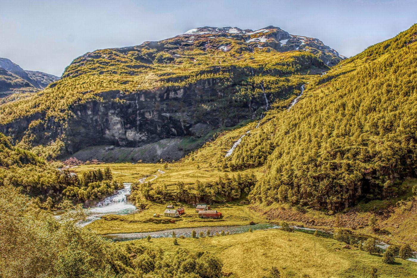 挪威弗拉姆铁路(Flam Railway),沿路的山水_图1-11