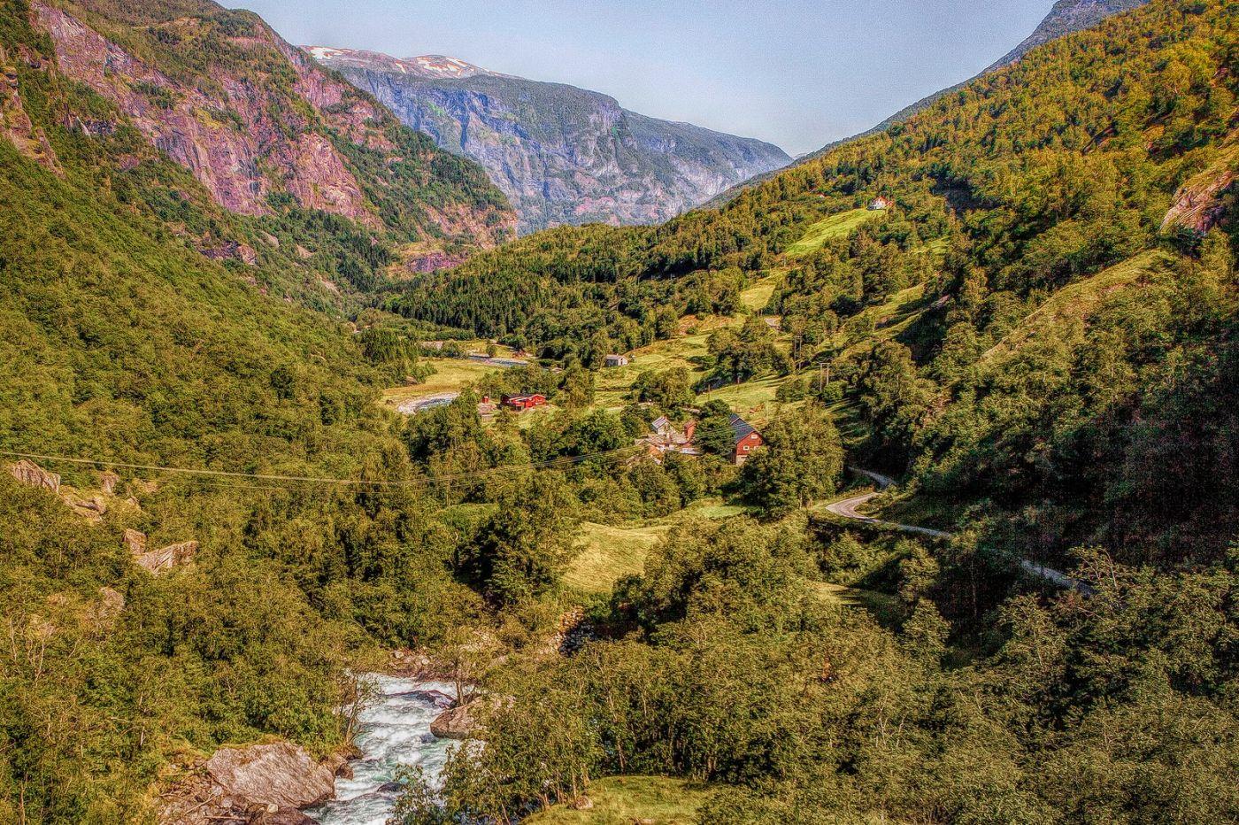 挪威弗拉姆铁路(Flam Railway),沿路的山水_图1-13