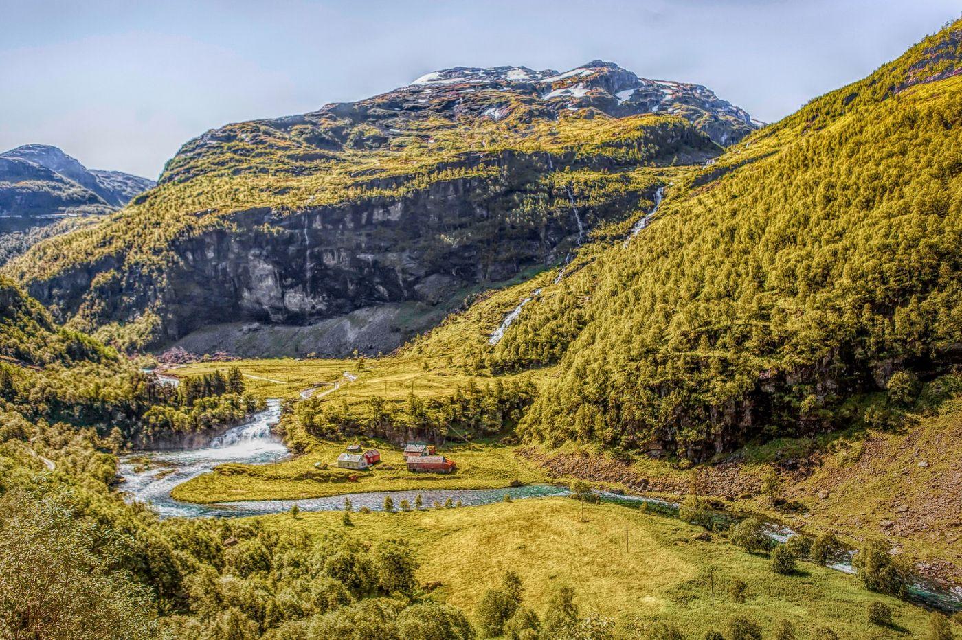 挪威弗拉姆铁路(Flam Railway),沿路的山水_图1-17